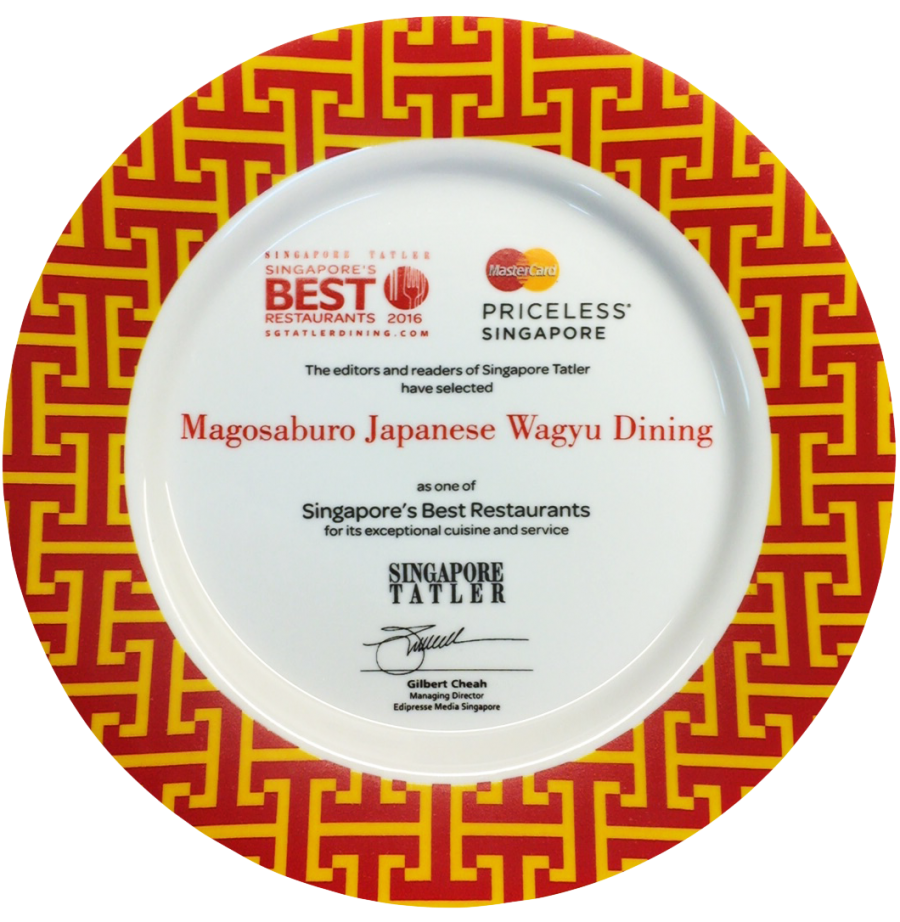 Singapore Best Restaurant Award 2016